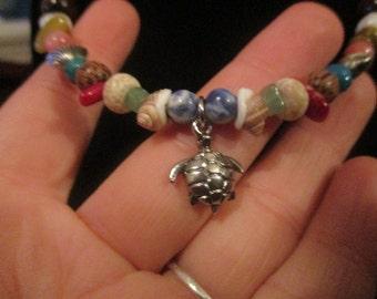 Tiny Turtle Beaded Necklace