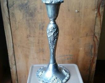 Vintage Silver Godinger Candlestick/ Vintage Silver Candlestick/ Godinger Candlestick/ Large Silver Candlestick/ Vintage Silver Home Decor
