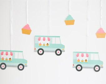 Ice Cream Van Bunting