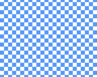 Sky Blue Checkered Cardstock Paper