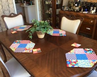 Colorful Placemats/coaster set