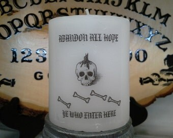 Abandon All Hope Wax Candle