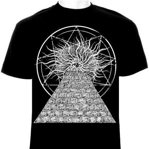 Pyramid Of Illuminates Occult T-Shirt Satanic Satan