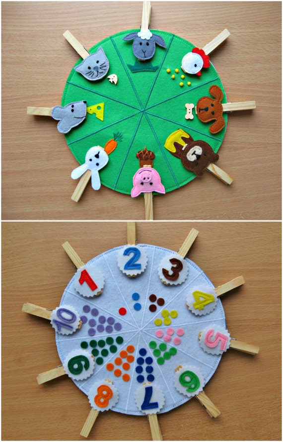 Toys For Preschoolers And Kindergarteners 3 5 : Double sided felt educational toys matching number busy
