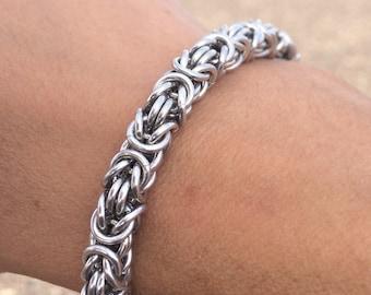 Silver Byzantine Weave Bracelet