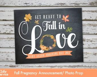 Fall Pregnancy Announcement Chalkboard Poster, Fall Pregnancy Reveal, Fall Pumpkin Pregnancy Announcement, Autumn Pregnancy