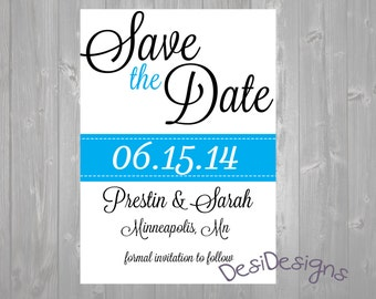 Simple Elegant Save The Date ANY COLOR AVAILABLE!!!