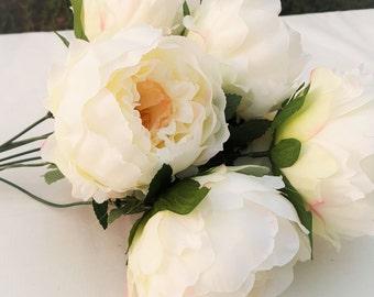 Artificial French Rose/Cabbage Rose Bouquet-Wedding decoration, wedding posy, wedding centerpiece, bouquet