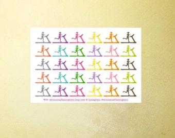 30 Treadmill Stickers