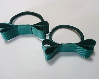 Baby/Toddler/Girl/Adult 2 1/2 Inches - 6.5 cm Mary Jane on elastic - School and Everyday wear - Hunter Green