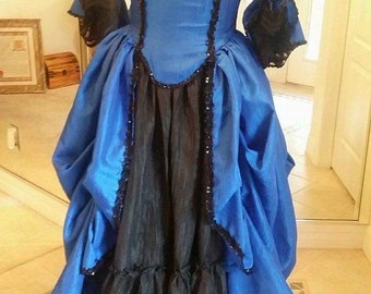18th Century Ball Gown Any Color Any Size Pirate Steampunk