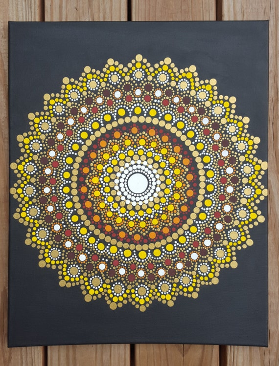 Mandala wall art mandala paintingbohemiandot work