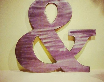 Metal Wall Art- Ampersand Sign