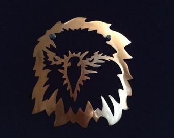 Eagle Looking Wind Blown Metal Art