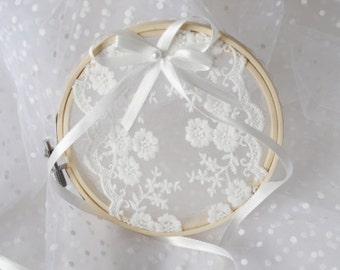Wedding Ring Hoop Ring Bearer Rustic Wedding Ring Pillow Alternative Boho Wedding Chic Wedding Wedding Gift Ring Holder Ring Beare  custom
