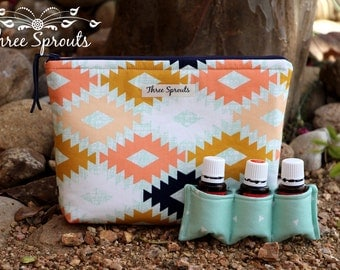 Essential Oil Bag, Essential Oil Storage, Essential Oil Travel Pouch, Essential Oil Case - Arizona