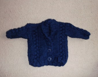 handmade knitted babies cardigan/jumper