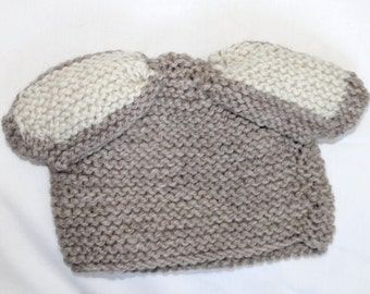 Newborn Baby Hat with Bunny Ears