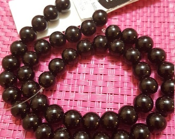 Cousin Designs by Me 8mm Black Glass Pearls, 48pc AJM63716104