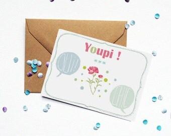 """Map """"Yay"""" - kraft envelope"""