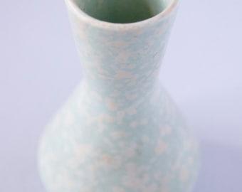 Mint-Green Spotted Vase Vintage 50s Ceramic