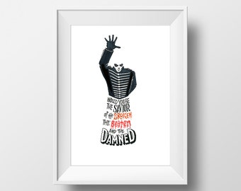 Welcome to the Black Parade - My Chemical Romance Music Lyrics Print Song Gift