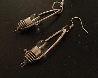 Steampunk Light Bulb Earrings