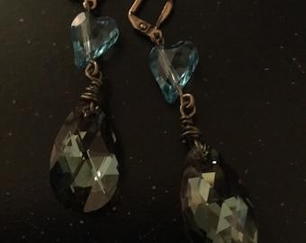 Vintage Style Crystal Drop Earrings