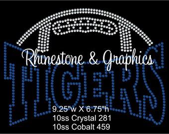 Rhinestone Football Pirates Design Pattern Graphic Design Instant Download EPS SVG PLT Cutting Files