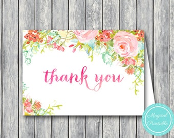 Wedding Thank you cards, Foldable Thank you notes, Wedding Favor Cards, Shower Favors, Bridal Shower Thank you cards, Favors TH45 WI24