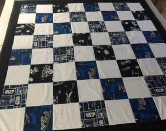 Star Wars Handmade Quilt 54 x 53 1/2