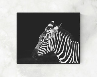 Zebra Print, Safari Print, Animal art, Printable Art, Wall Decor, Zebra Wall Decor, Animal Art, Scandinavian Print, Minimalist Print