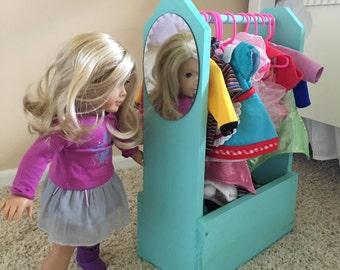 Doll Clothes Organizer  - 18 inch doll, american Girl Doll