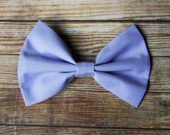 Lavender Purple Fabric Hair Bow