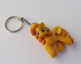 My Little Pony Keychain Yellow ponies Bumblesweet,Carmel Apple, Lavender Fritter,Sweetcream Scoops,Pursey Pink