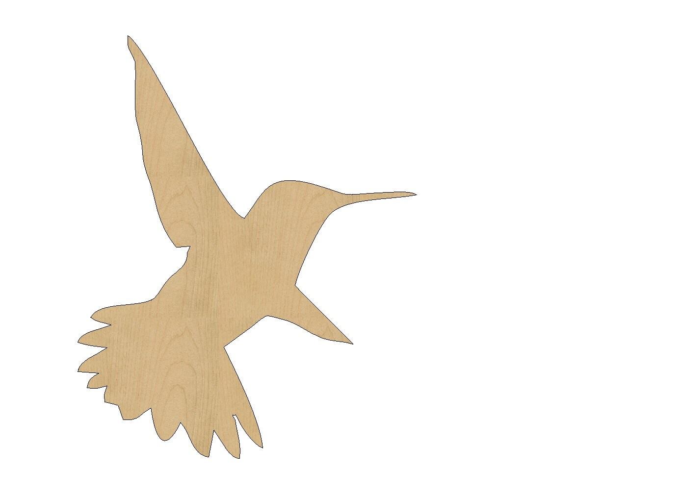 Laser Cut Hummingbird Template