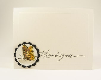 Butterfly Thank You Card, Thank You Card, Handmade Thank You Card, Butterfly Card, Handmade Greeting Card