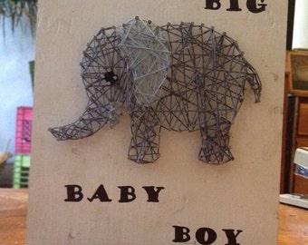 Dream Big Baby Boy - Elephant Nail Art