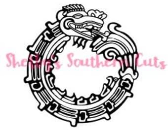 Dragon Monogram SVG file