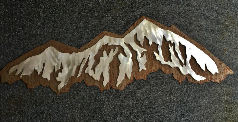 Metal Wall Art Mountain Landscapes : Metal artwork wall art mountain