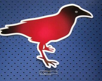 Red Raven Bumper Sticker