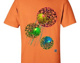 96703210 Neutrino Alpha Particles Tangerine T-Shirt for Men