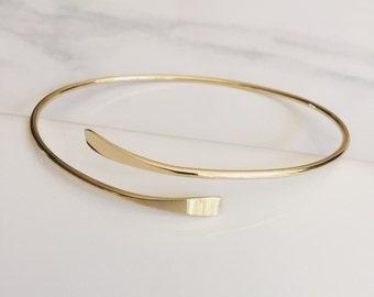 Gold Geometry Cuff Bangle