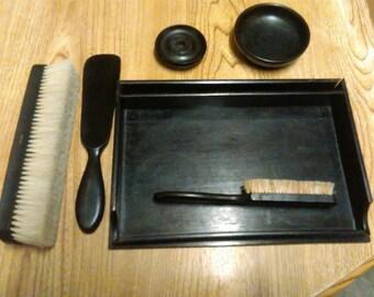 Vintage ebony set