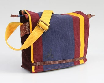 "Messenger Bag with Multi ""Yellow, Red & Blue"""