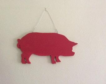 Pig silhouette blackboard or chalkboard