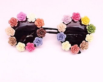 Round flower sunglasses