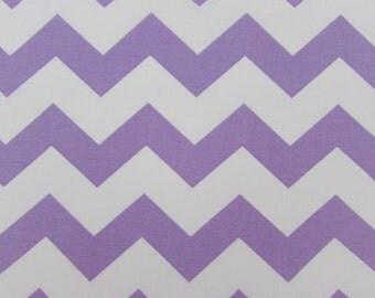 "Chevron, 1"" Light Purple Fabric By the Yard"