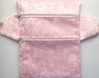 Baby Pink Velour Fanny Pack