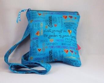 Blue  Messenger Bag,  Crossbody Bag